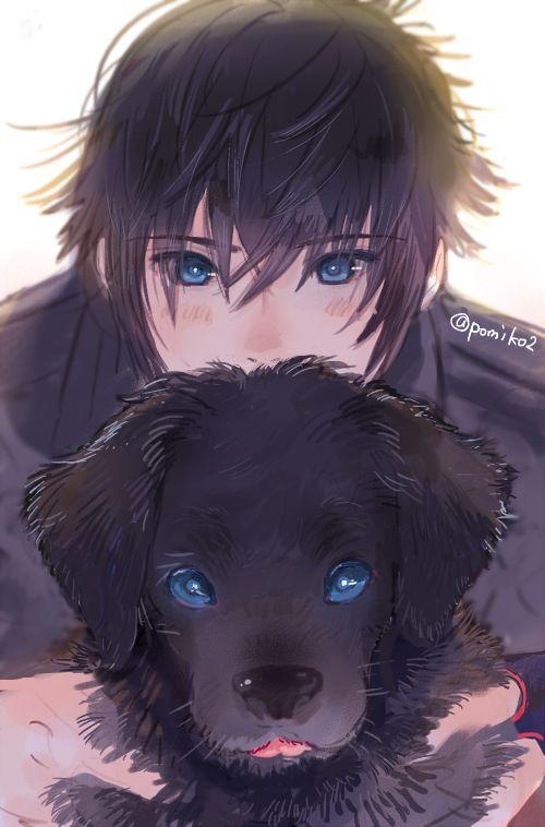 Noctis and Puppy Final Fantasy XV #FFXV