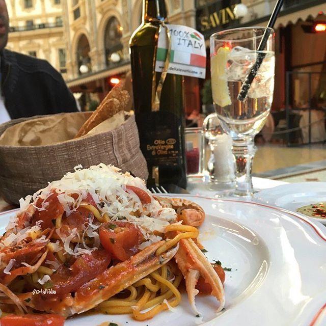 . . الطّعم .. خيااال .. ✨ . . #سباغيتي #ميلان .. ✨ La Locanda Del Gatto Rosso
