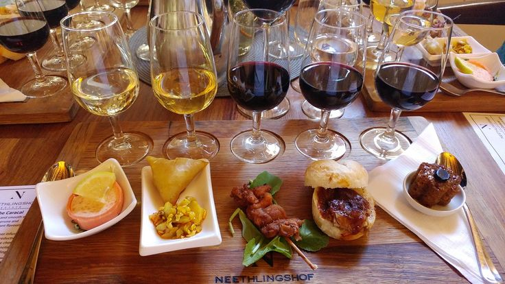 Food and Wine Pairing at Neethlingshof, Stellenbosch.