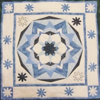 Patchworkový obraz Zimní mandala