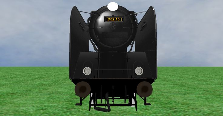 JNR D62 steam loco frontview