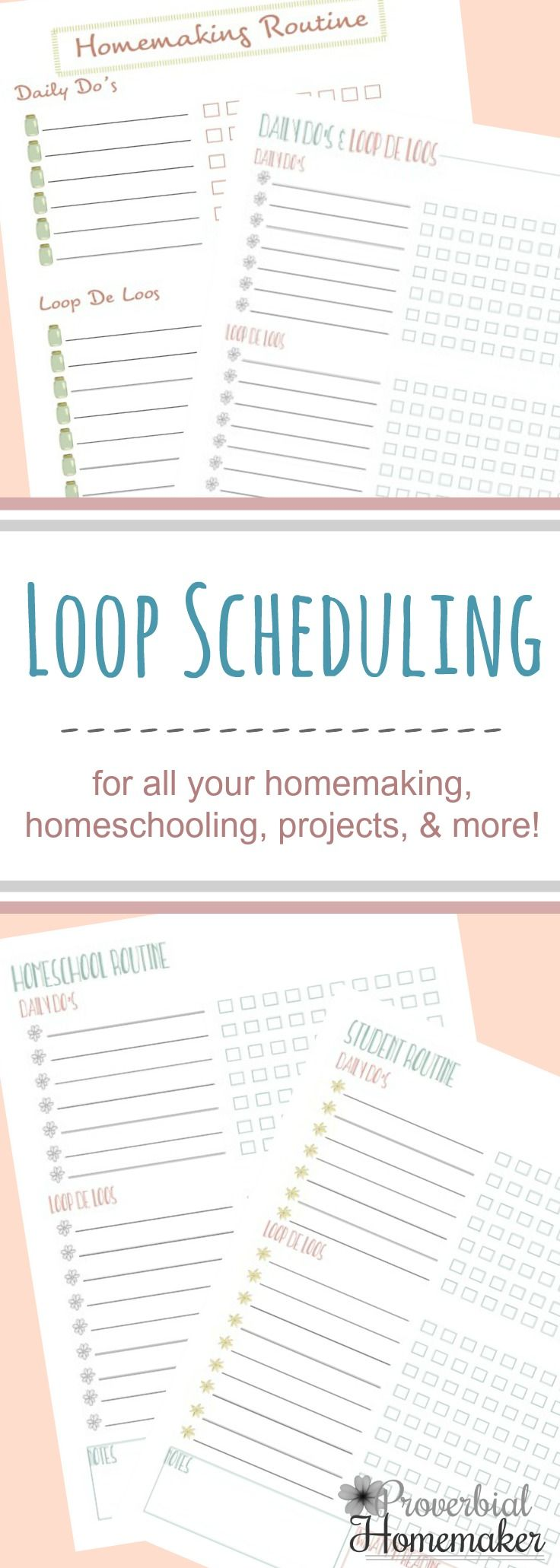 Use loop scheduling for flexible and effective task management - great for homeschooling, homemaking, and more! via @TaunaM