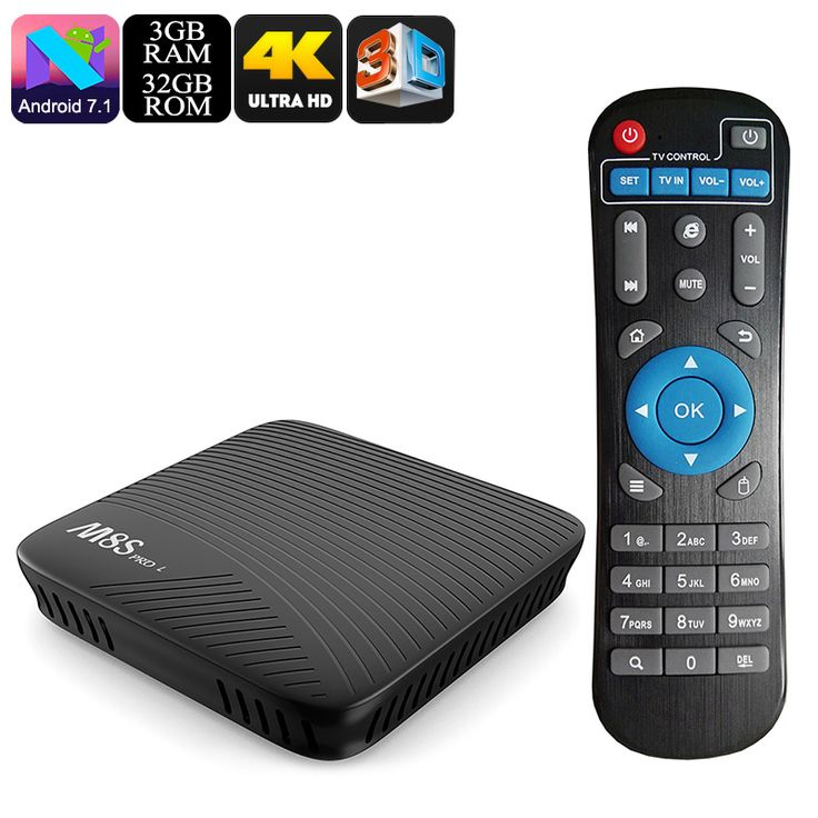 Mecool M8S Pro L Android TV Box - Android 7.1, Kodi 17.3, Octa Core CPU, 3GB RAM, 32GB Memory, Airplay, Miracast, DLNA - The Mecool M8S Pro L Android TV box has the advanced S912 Octa Core CPU and 3GB of RAM to deliver immersive 4K entertainment for your home