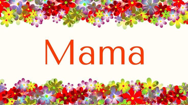 """""""Mama"""" (full version) - Lied für Frühling und Muttertag - Noten & mp3 : www.kitakiste.jimdo.com"""