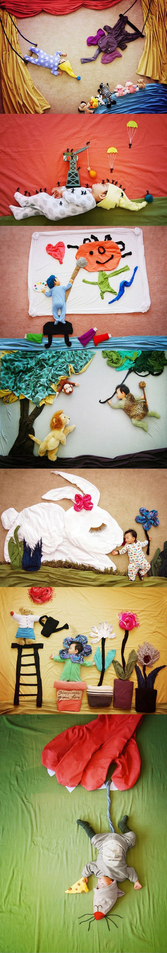 """Creative mom turns her baby's naptime into """"dream"""" adventures (more pics if you follow the link)"""