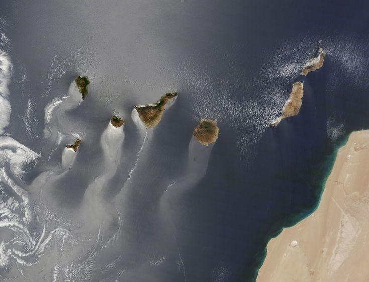 Las Islas Canarias vistas desde el espacio Imagen elegida por la NASA como Foto del Año!!!