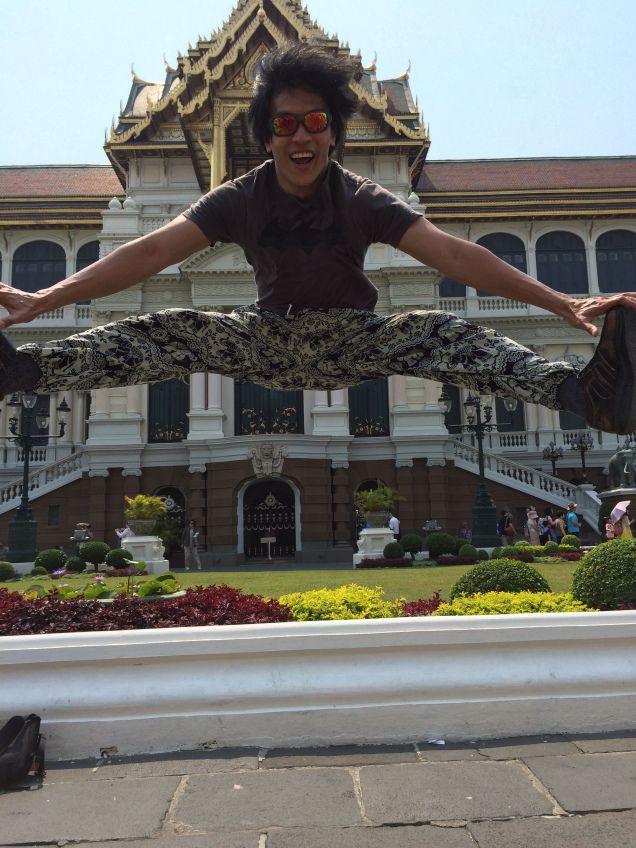 Nice jump! Gator Alex Cho visited Bangkok while studying abroad in Singapore. #SFSU