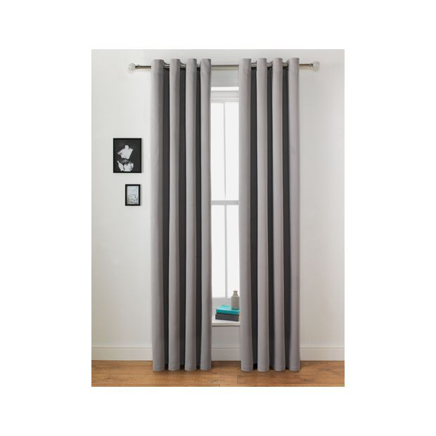 Buy Collection Twilight Blackout Curtain-168x183cm-Grey Mist at Argos.co.uk - Your Online Shop for Curtains, Blinds, curtains and accessories, Home furnishings, Home and garden.