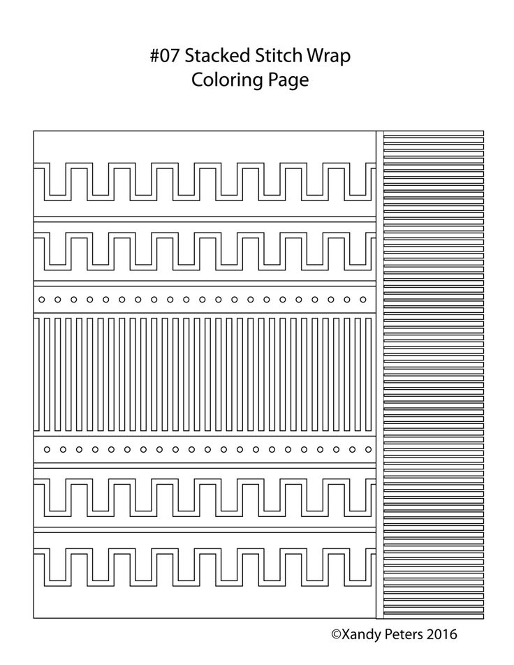 Stacked Stitch Wrap by Xandy Peters- coloring page