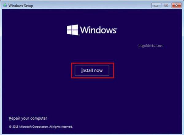 Install Windows 10 Using Usb Flash Drive Step By Step Pcguide4u Window Installation Usb Flash Drive Flash Drive