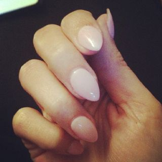Want stiletto nails like these, but more round
