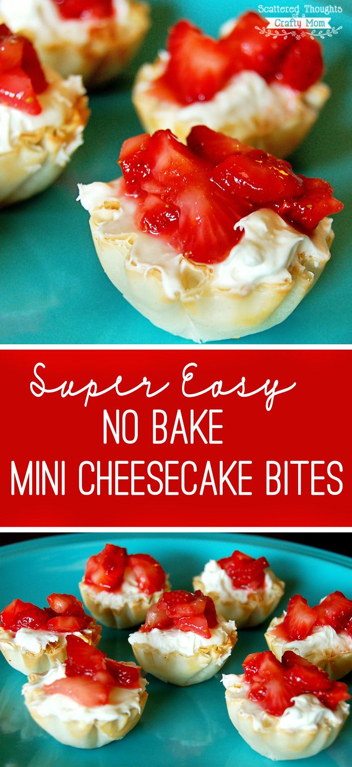 Quick and Easy- these no bake mini cheesecake bites are delicious! Make just a few for your family or make hundreds for your next event. (bonus: each little bite is about 45 calories each!)