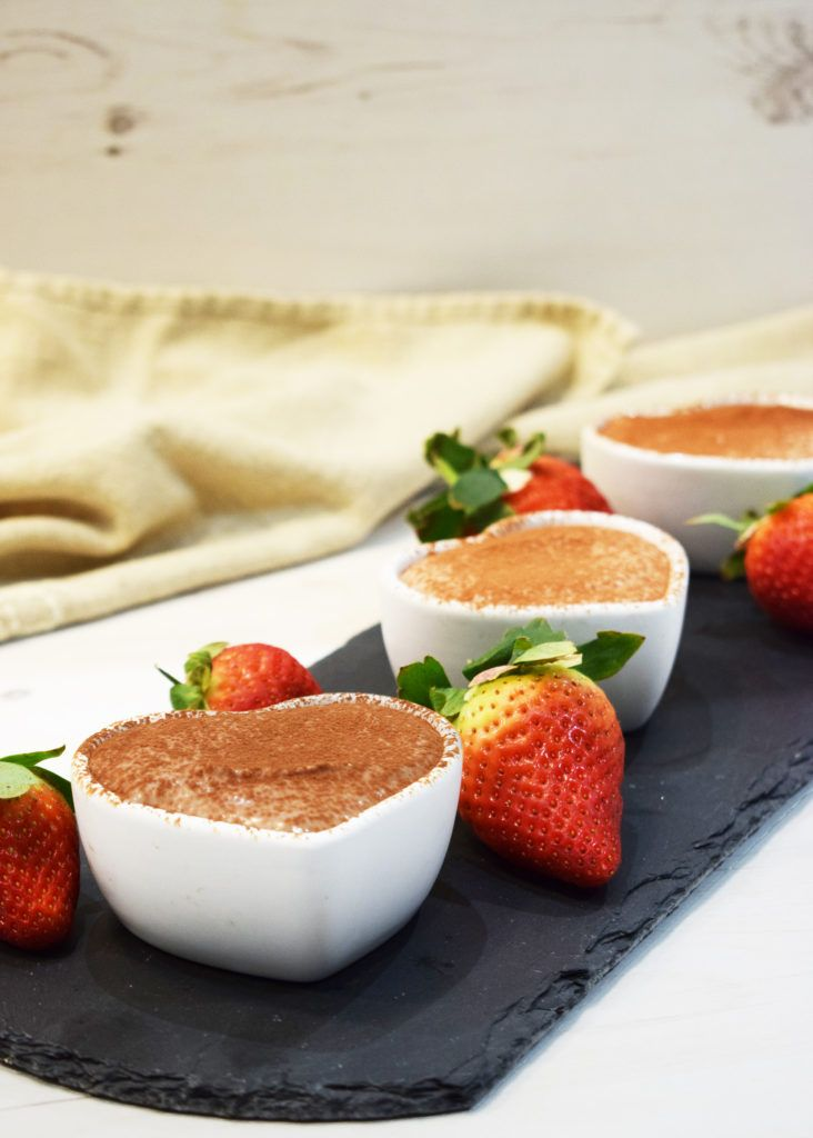 Healthy - No Bake Chocolate Cheesecake - Pots - Slimming World - Pudding - Valentine's Day - Low Syn