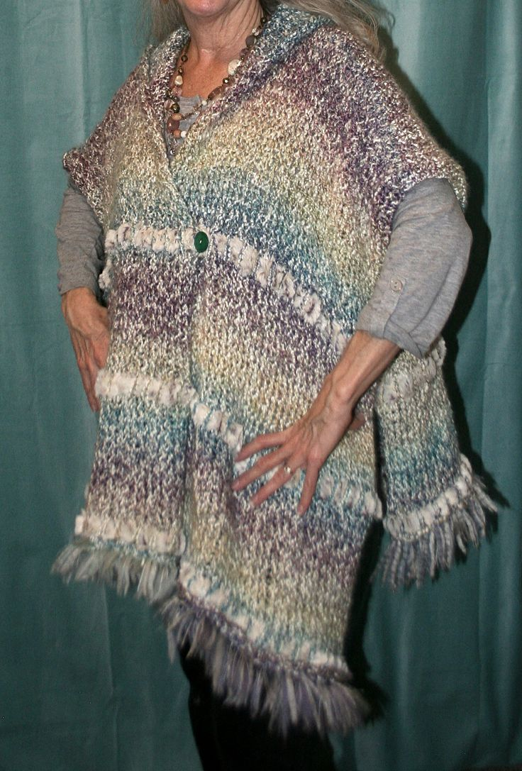 Loom Knitting Poncho : Best images about loom knits on pinterest knitting