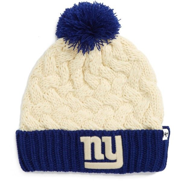 47 Brand Matterhorn NY Giants Beanie ($7.48) ❤ liked on Polyvore featuring accessories, hats, open white, top hat, white top hat, beanie cap hat, white beanie hat and acrylic hat