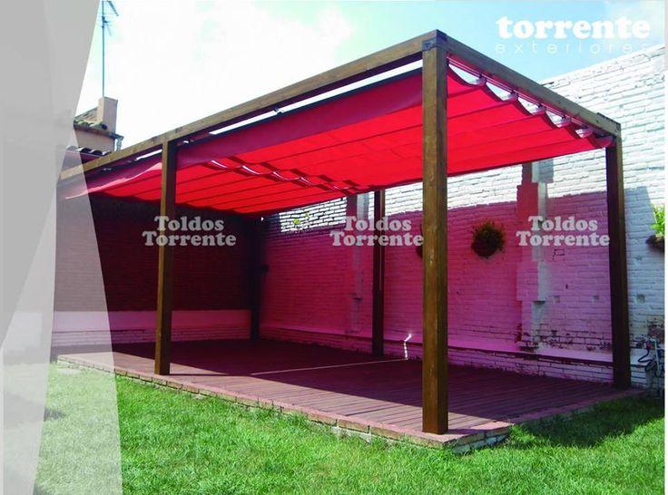 M s de 25 ideas incre bles sobre toldo corredero en - Toldos para patios interiores ...