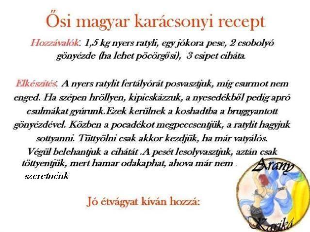 Ősi magyar karácsonyi recept - tereza54 Blogja - 2010-01-03 18:57