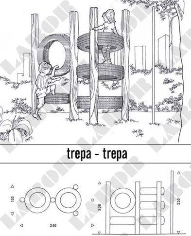 Planta baixa do Playground de Eucalipto Trepa Trepa - (EQ. 18)