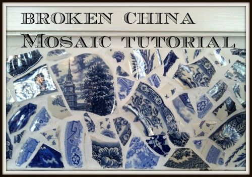 Broken China Mosaic DIY