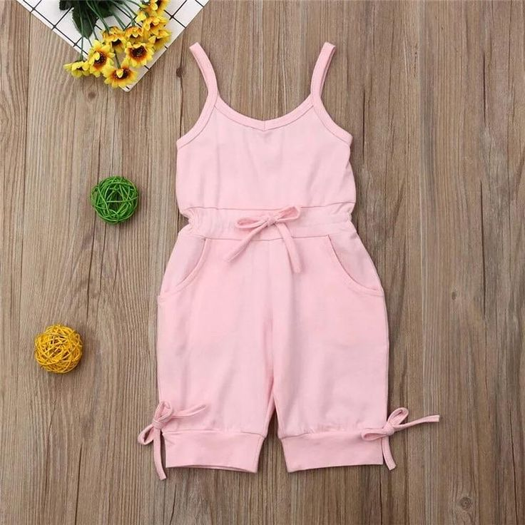 Pink Jumpsuit Kids Dress Wear, Dresses Kids Girl, Kids Outfits Girls, Girl Outfits, Baby Girl Bows, Baby Girl Romper, Girls Bows, Baby Girls, Toddler Girl
