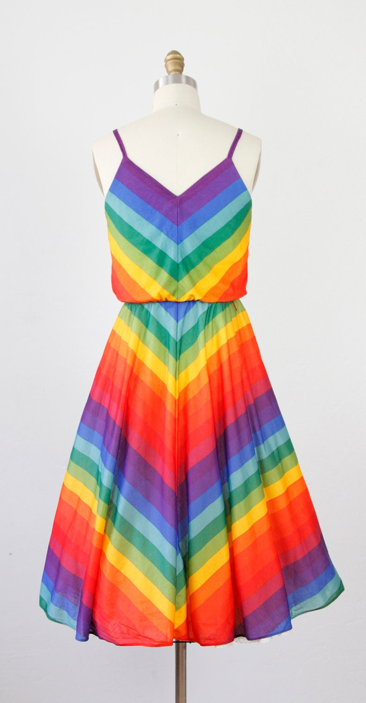 rainbow dress   love it!  I could pass it down to CC and she would REALLY love it!