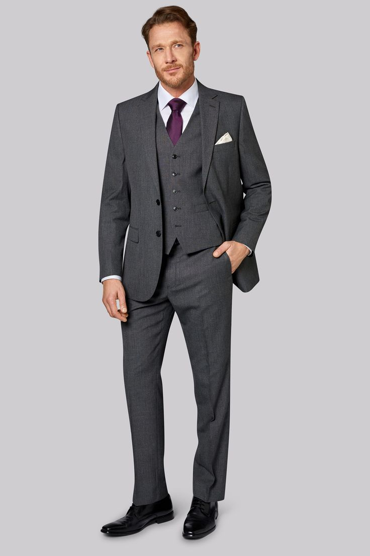 Moss Esq. Regular Fit Grey Textured Jacket Step out in the City with this supremely stylish grey textured suit from Moss Esq. There is a distinctive timeless quality about this suit that gives the City gentleman on the move an extra edge. This http://www.MightGet.com/january-2017-12/moss-esq-regular-fit-grey-textured-jacket.asp