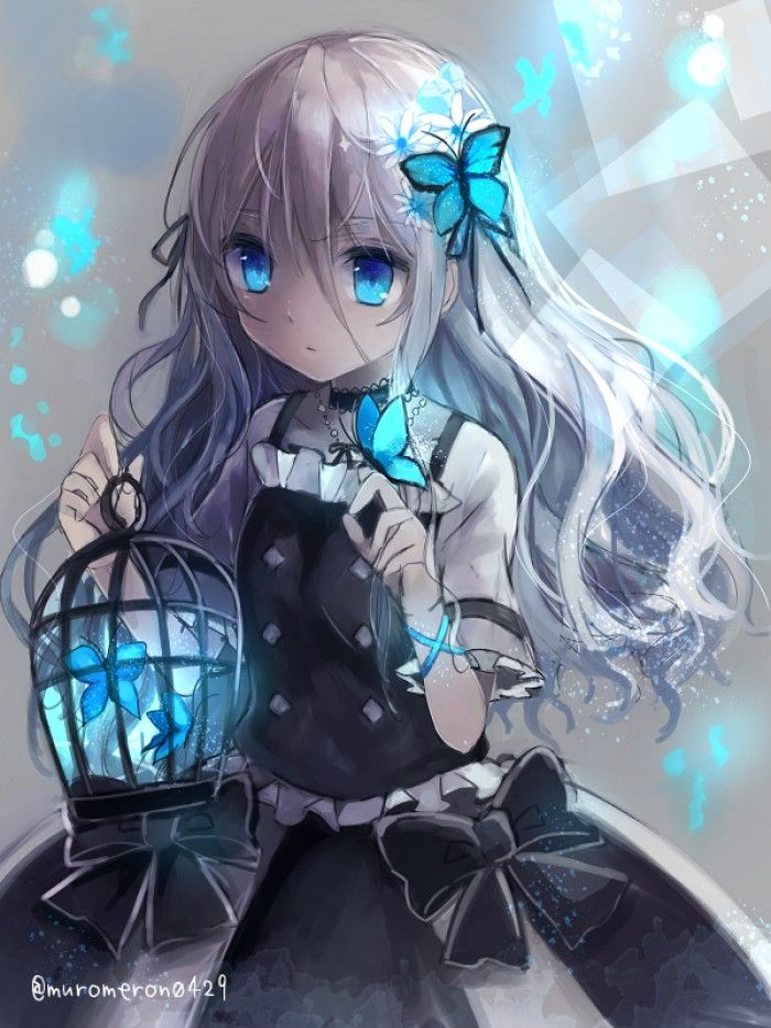 1568 anime girl white hair