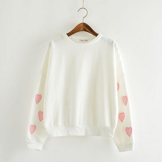 "Use this coupon code ""playbanovici"" to get all 10% off! Japanese kawaii cute sweet love fleece sweater shirt"