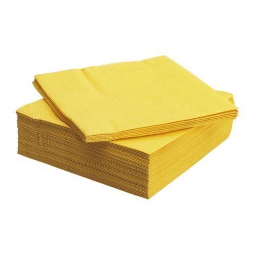 FANTASTISK 50 Pack Highly Absorbent Yellow Paper Napkin