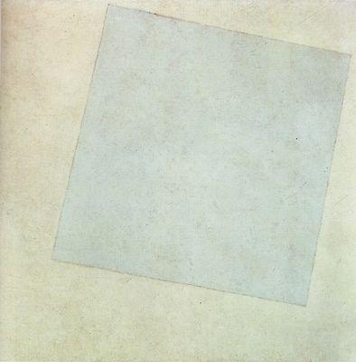 """Kasimir Malévitch 1918 (MoMA New York) Quoi de plus naturel avec notre """"période de neige"""" et donc de """" blanc"""" (revoir) que de s'intéresser à cette toile de Kasimir Malévitch. On considère souvent cette toile comme le premier monochrome de l'histoire de..."""