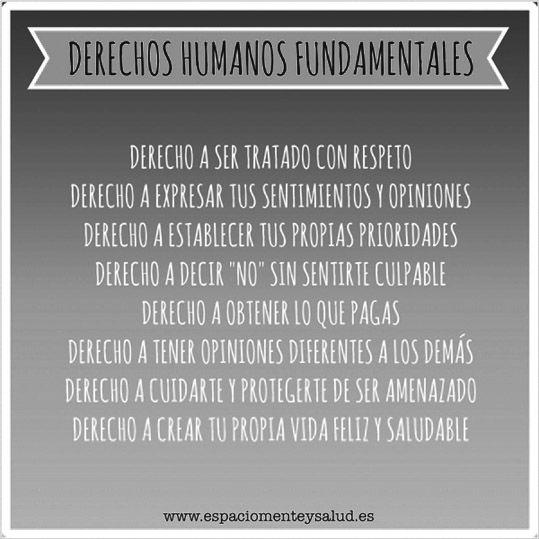 ... DERECHOS HUMANOS FUNDAMENTALES.