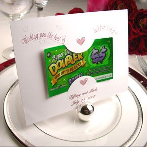 Lottery Ticket Holder Favor, Las Vegas Wedding Favor