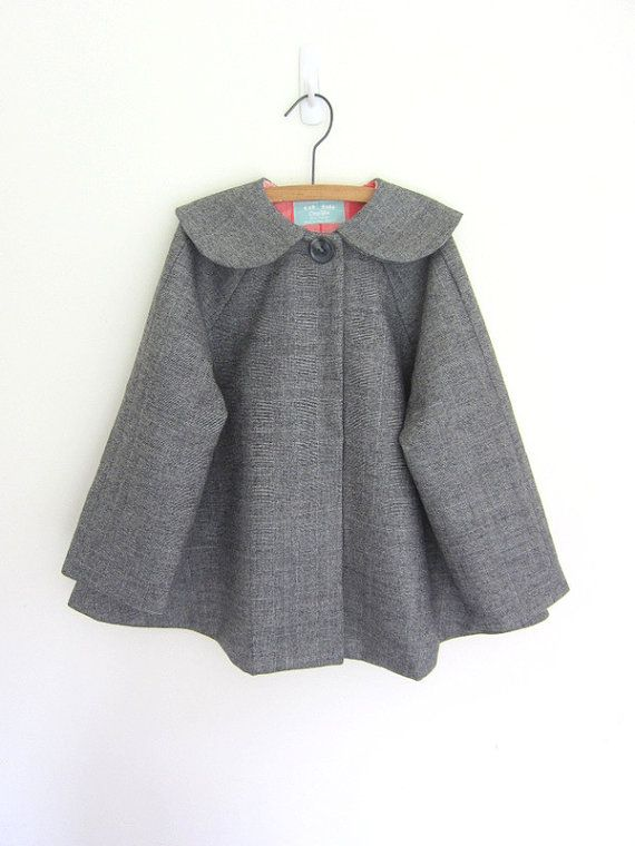 Girls cape coat by OneMe on Etsy, $75.00