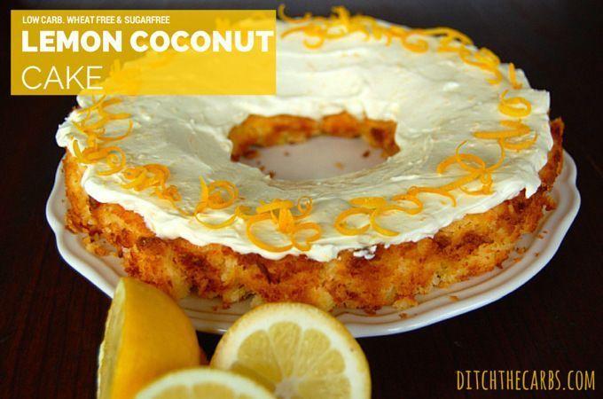 Low Sugar Ice Cream Cake Recipes: Low Carb Lemon Coconut Cake