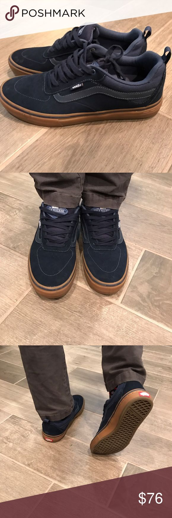 Kyle Walker Edition Navy Blue Vans Worn for only a few hours. Got the wrong size! True to size, size 10 men's. Vans Shoes Sneakers