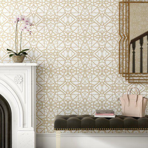 Rodas Shatter 16 5 L X 20 5 W Geometric Peel And Stick Wallpaper Roll Peel And Stick Wallpaper Wallpaper Roll Peelable Wallpaper