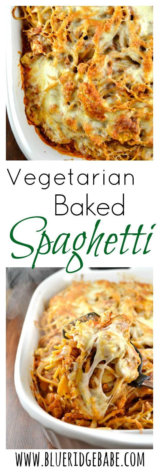 This spicy vegetarian baked spaghetti is what dreams are made of! A guaranteed family pleaser and the leftovers are AWESOME!