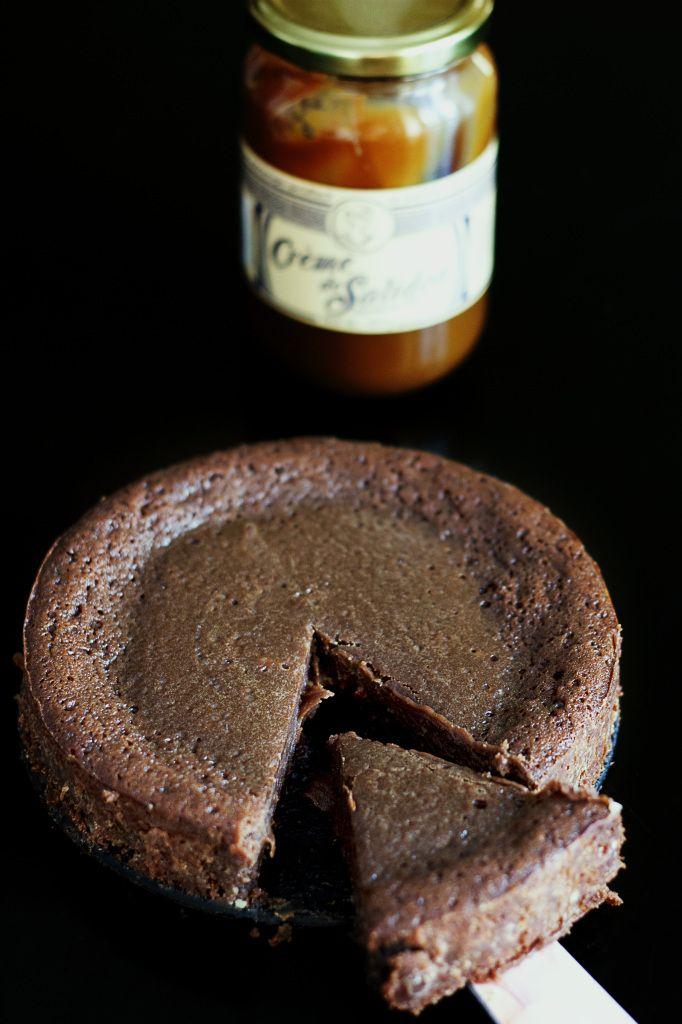 Fondant au chocolat et au caramel au beurre salé
