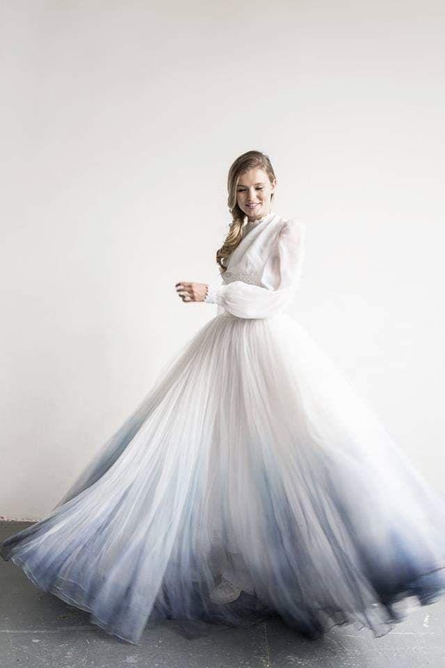 The Best Alternative Wedding Dress Designers Stunning Dip Dye Wedding Dress From Bexb Unusual Wedding Dresses Alternative Wedding Dresses Ombre Wedding Dress