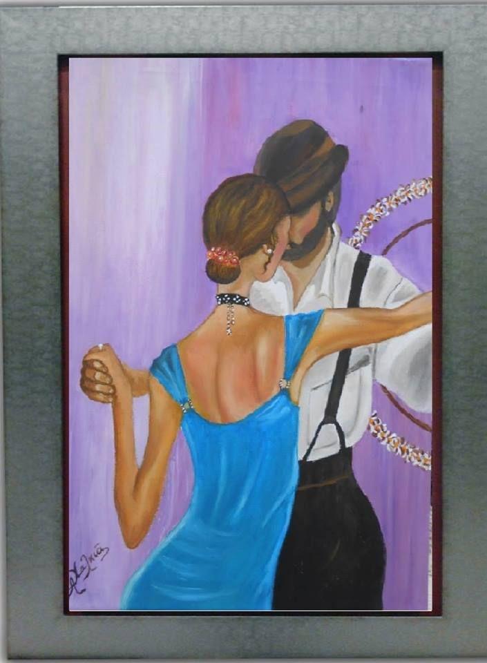 το τανγκό ελαιογραφια 30x40 cm  tango Oil painting 30x40 cm