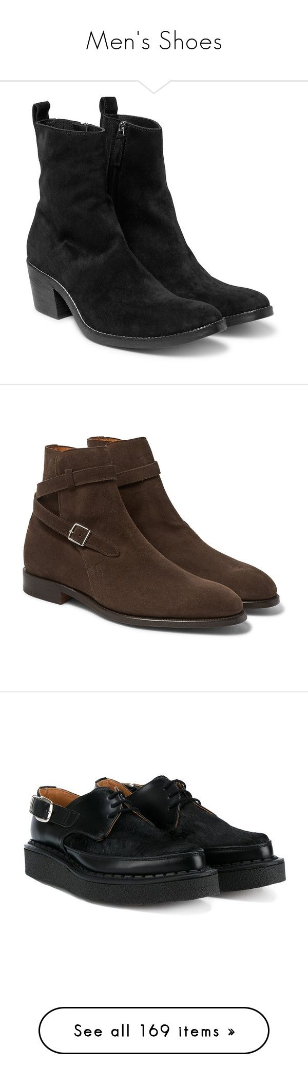 """Men's Shoes"" by kahunakole ❤ liked on Polyvore featuring men's fashion, men's shoes, men's boots, cuban heels mens shoes, mens cuban heel boots, mens suede boots, mens suede shoes, mens brown suede boots, mens brown suede shoes and mens brown shoes"