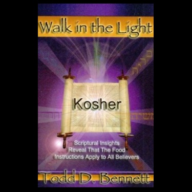 """Kosher by Todd Bennett.    Todd's book Kosher is the landmark argument for a biblically kosher diet for the Messianic movement that makes the essential distinctions which wean the follower of Messiah from the leavened loaf of the Pharisees as well as pagan culinary perversions. Todd Bennett is an attorney – a doctor of Jurisprudence – and he proves each of his """"cases"""" with concise and clear arguments that are both historically and biblically documented."""