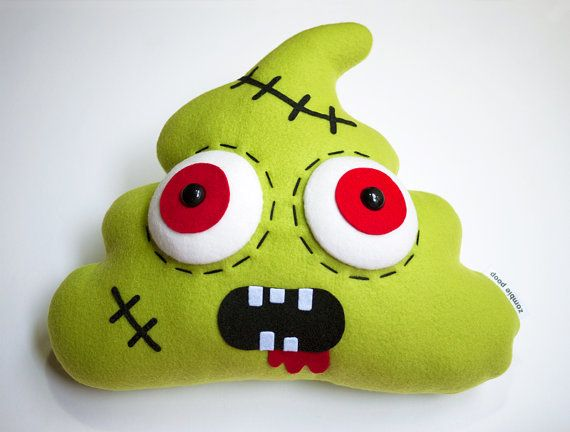 Zombie+Poop+Plush++I'M+LEGENDARY+a+mythical+creature+by+CindyMakes,+$55.00