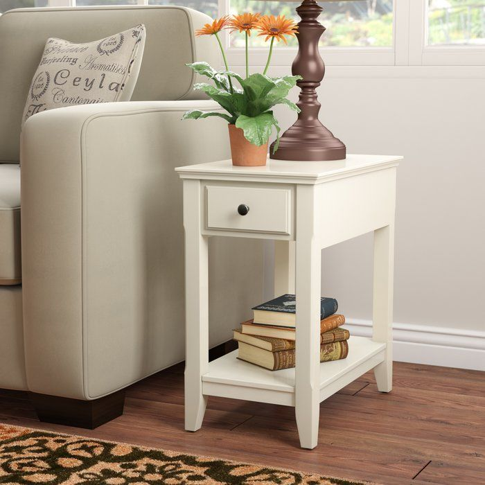 hillyard end table with storage  small room design