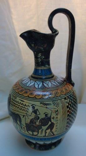 Ceramic jug 760 B.C. Geometric period | pavlos - Ceramics & Pottery on ArtFire