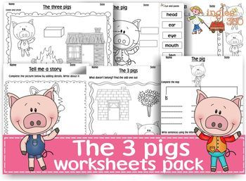 The three pigs- worksheets