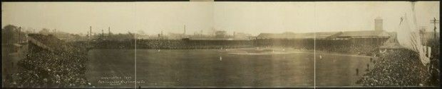 "A ""World's Championship Series"" game at Bennett Park, Oct. 11, 1909.  The Tigers played the Pittsburgh Pirates, who ultimatley won in 7 games."