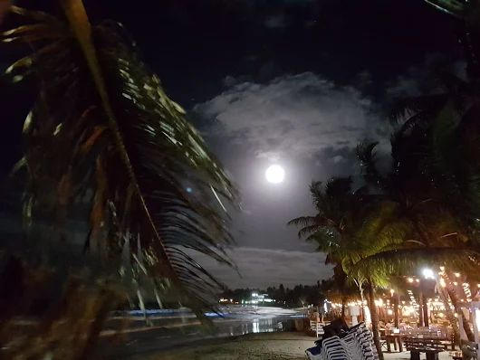 Magic moon lights up Cabarete Bay in romantic ambiance! These could be your hometown moon-glow nights......easier than you may think: http://www.our-dominican-republic.com/resort_for_sale.html photo credit to local bad-boy-author, Frank Genoa, thx bud!