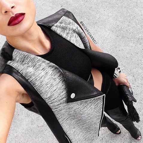 Fashion Blogger Micah Gianneli wearing the  A/W 14  Ellipsis Gilet