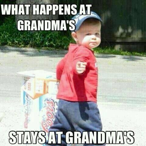 what happens at grandma's stays at grandma's joke